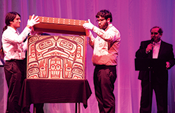 Carved and painted bentwood chest by David A. Boxley, who donated it to the 2014 Tináa Art Auction. Photo by Steve Quinn